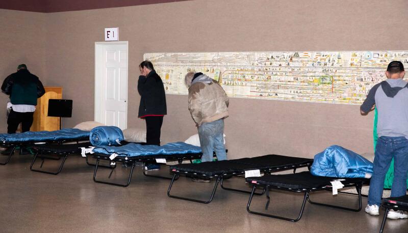 Folsom winter shelter cots